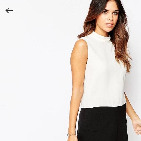 c5be7d4664423 ASOS Tops - ASOS high neck sleeveless crop blouse